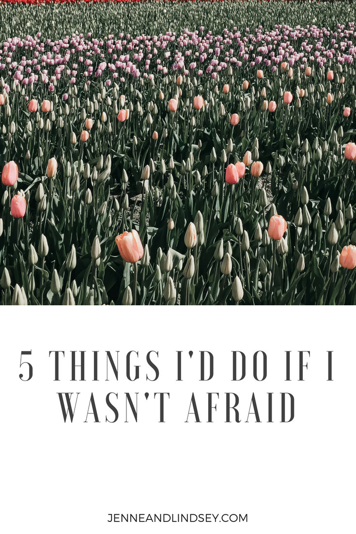 Fear doesn't serve you, so why continue to let it hold you back.  Today I'm sharing 5 things I'd do if I wasn't afraid.